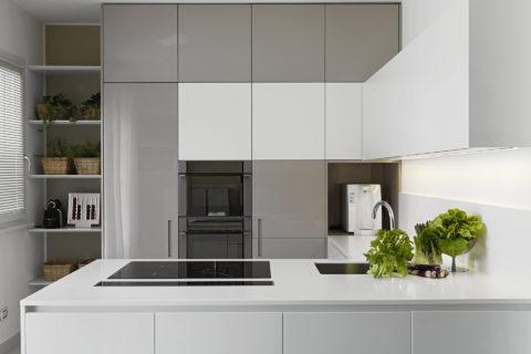 kuchnia biało szara
