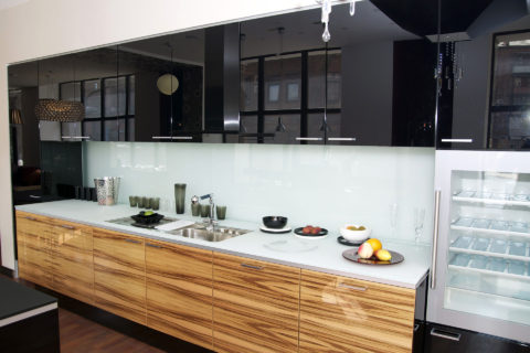 kuchnia z frontami fornirowanym