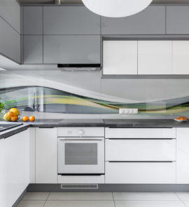 kuchnia z panelem szklanym
